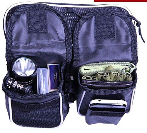 XY&GKDie vordere Tasche das obere Rohr die Fahrradtasche die Berge Auto den Strahl Tasche die Vier in einem Beutel, ihre Reise angenehmer machen Black