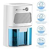 TOUCHXEL Deshumidificador Eléctrico con Capacidad de 410ML, Deshumidificador Silencioso de Aire, contra vapor, humedad, moho, para dormitorio, baño, vestidor, closet, estante etc