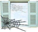 Fenstertattoo selbstklebend ~ Spinnennetz ~ glas042-57x35 cm 610051 Aufkleber für Fenster, Glastür und Duschtür, Badezimmer Glasdekor Fensterbild, wasserfeste Glasdekorfolie in Sandstrahl - Milchglas Optik