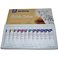 Tessuto di memoria professionale Artisti Set vernice, 12 Colori in tubi Alumenium 12ml, Vendita al (Emulsione Di Vernice)