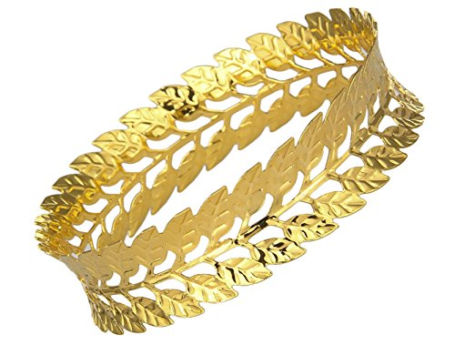 EOZY Bracelet Feuille Métal Femme Noël Cadeau Valentin Amour Lady Or