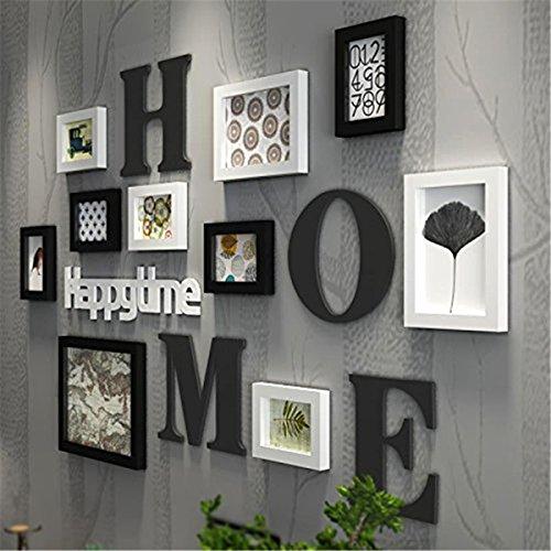 Preisvergleich Produktbild Massivholz Bilderrahmen - Schwarz und Weiß minimalistischen modernen Wohnzimmer, Bilderrahmen Schwarz und Weiß