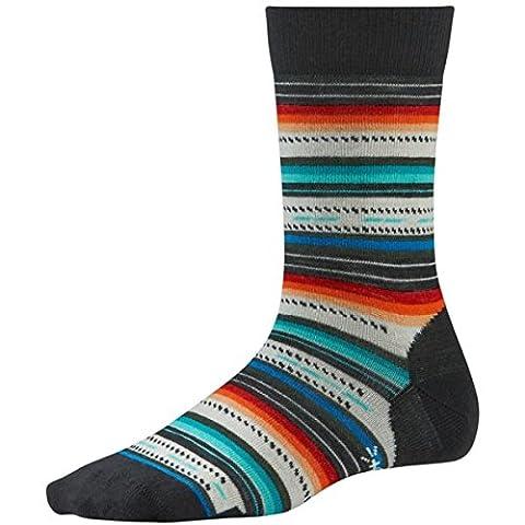 Smartwool Damen Funktionsbekleidung Margarita, Black/Multistripe, M, BSW717857 (Smartwool Snowboard Socke)