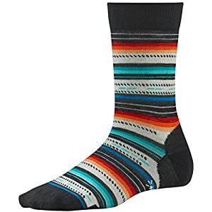 smartwool women's margarita socks  - black multi stripe