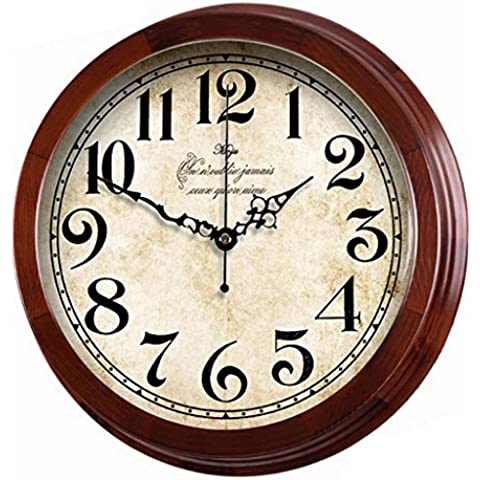 Creativo Retro Atmosfera digitale salotto moderna Lai orologio da parete suono orologio al quarzo orologio in legno massello