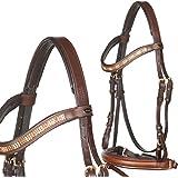 heinick de hípica ~ Bocado Milano Sueco marrón ~ Equestrian–Brida mediasangre, purasangre, marrón