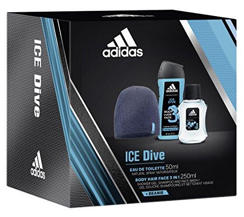 adidas Ice Dive Eau de Toilette + Shower Gel + Wollmütze, 300 ml