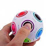 SHOBDW Pop-Regenbogen-Magie-Kugel-Plastikwürfel-Twist-Puzzlespiel-Spielwaren für pädagogisches Spielzeug der Kinder Jugendliche Erwachsener Stress-Entlastung (Regenbogen)