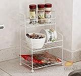 Küchenmöbel-WXP Mini-Küche Badezimmer Regal Bad Regallager mehrschichtige Trompete Eisen kleines Regal WXP-Küchenschränke und Besteckschränke