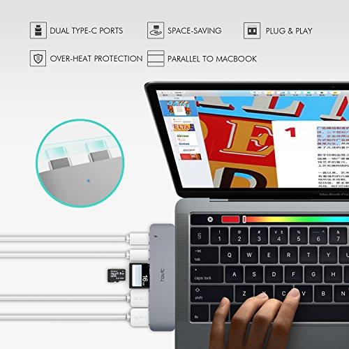 51IEQiizKML - [amazon] HAVIT Thunderbolt 3 USB-C-Hub für 2016/2017 Apple MacBook Pro für nur 50,99€