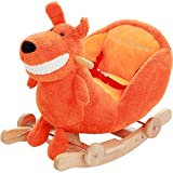 ZCRFY Rocker Ride-ons Chair Baby Child Rocking Horse Wooden 2 In 1 Dual
