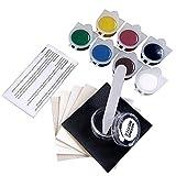 Moosungeek DIY Reparaturset, Vinyl-Leder und Vinyl-Reparatur-Set – Hohlbeitel, Boot, Fahrrad, Sitz, Heimmöbel-Reparatur-Werkzeug