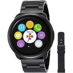 MyKronoz ZeRound - Reloj inteligente/pulsera de fitness, unisex, Smartwatch Fitnesstracker ZeRound Premium mit Metallarmband, schwarz (KRZEROUND-PREM-MET-BLACK)