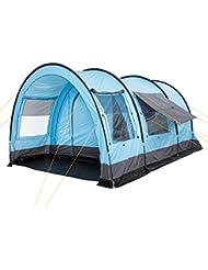 CampFeuer - Variables Tunnelzelt, für 4 Personen, hellblau/grau 5000mm Wassersäule