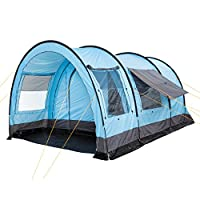 campfeuer - tunnel tent, 4 person, blue/grey, 5000 mm