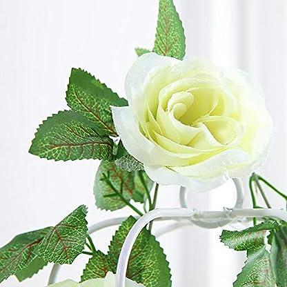 inherited Guirnalda Flores, Flores Artificiales Artificial Seda Rosa Flor Vid Rosa Artificial Rose Rattan Seda Garland,Flores de decoración para Bodas, Casas, Fiestas y Jardines,Flores,2 Unidades