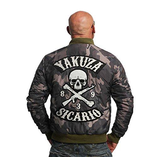 Yakuza Original Herren Sicario Bomberjacke Camouflage