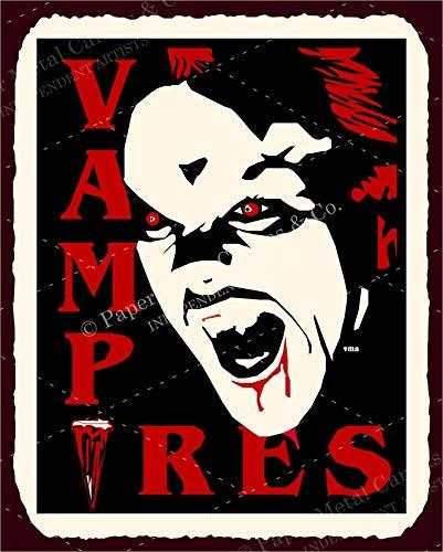 Vampires Halloween Vintage Retro Blechschild Vintage Look Metallschilder