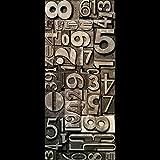 ZYCLSSRV Stickers Retro Porte Industrielle,Rénovation de Porte en Bois Auto-adhésif Imperméable Porte de dortoir Autocollants Garde-Robe Chambre Autocollants-I 60x135cm(24x53inch)