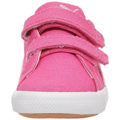 Puma Benecio Canvas V Kids, Baskets lifestyle enfant Rose/Rose/Blanc
