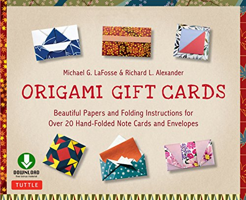 Origami Gift Cards Ebook: Beautiful Papers and Folding Instructions for Over 20 Hand-folded  Note Cards and Envelopes (English Edition) (Noten Handwerk Für)