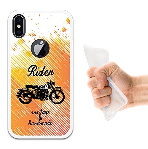 iPhone X Hülle, WoowCase Handyhülle Silikon für [ iPhone X ] Hund Fußabdruck Handytasche Handy Cover Case Schutzhülle Flexible TPU - Schwarz Housse Gel iPhone X Transparent D0422
