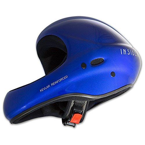 Charly INSIDER unicolor, Flugsporthelm für Gleitschirm und Drachen, glänzend blau, Größe M