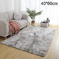 Therecoe86 Bathroom&Bedroom Carpet,Soft Tie-Dye Carpet Floor Mat Fluffy Antiskid Area Rug Home Living Room Decor - Pink & Purple 60 * 120cm