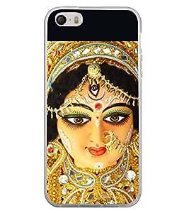 Fiobs Designer Back Case Cover for Apple iPhone 4S (Durga Amba Mataji Kali Mahishasurmardini)