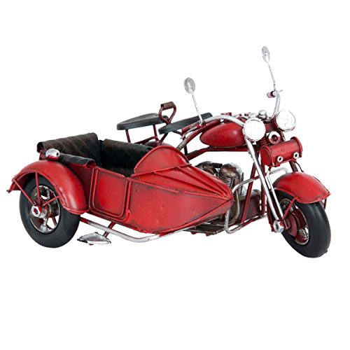 Clayre & Eef 6Y2255 Modell Motorrad mit Beiwagen 18 * 14 * 11 cm