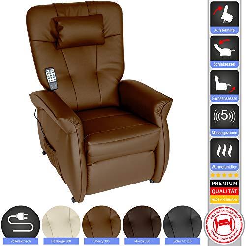 THRONER EXKLUSIV Massagesessel (Schlafsessel) mit elektrischer Aufstehhilfe und 5-Punktmassage - Made in Germany