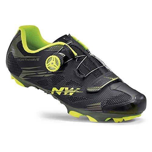 Northwave Scorpius 2 Plus MTB Fahrrad Schuhe schwarz/grün 2016 schwarz/gelb