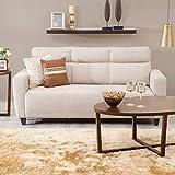 Home Centre Emily Fabric Sofa- 3 Seater Beige