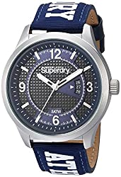 Superdry Mens Quartz Metal and Nylon Casual Watch, Color:Blue (Model: SYG171UW)