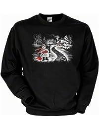 Motiv für Winter- und Weihnachtszeit: Winterlandschaft Sweatshirt Farbe schwarz