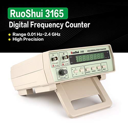RuoShui 3165 Digitale Hochpräzise Hochfrequenzzähler Testing Meter 0,01 Hz - 2,4 GHz Frequenz Monitor Zähler Tester (Khaki) Line Voltage Tester