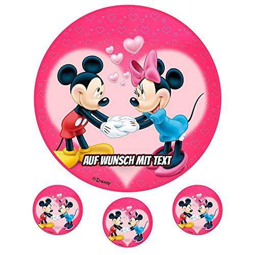tstag Tortenbild Zuckerbild Oblate Motiv: Disney Minnie Maus 16 (Oblatenpapier) ()