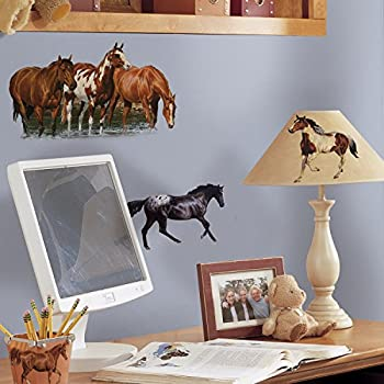 This Item RoomMates Repositionable Childrens Wall Stickers   Wild Horse Part 41