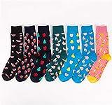 Kangqi Mädchen Socken Männer Mode Bunte Lebensmittel Sushi Obst Muster Kurzrohr Baumwollmischung Socken Kleidung Zubehör (Farbe : As Shown, Größe : Einheitsgröße)