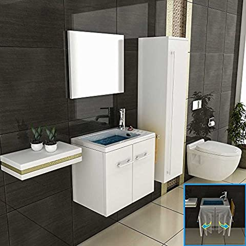 Badmöbel Waschbecken Spiegel Badezimmer Design Badmöbel mit Spiegel Einrichtung für´s Badezimmer Waschtisch Waschplatz Lösung