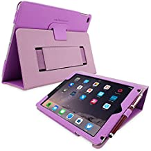 Snugg Apple iPad 9.7 (2017/2018) and iPad Air PU Leather Tablet Protective Flip Case Cover Purple