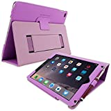 Snugg iPad 4 and 3 Case - Purple Leather Smart Case Cover [Lifetime Guarantee] Apple iPad 4 and 3 Protective Flip Stand Cover with Auto Wake / Sleep