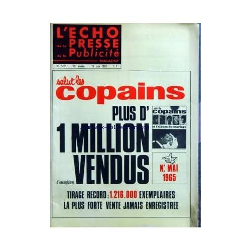 ECHO DE LA PRESSE DE LA PUBLICITE ET DES RELATIONS PUBLIQUES (L') [No 532] du 15/06/1965