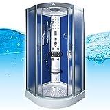 AcquaVapore DTP8046-1212 Dusche Dampfdusche Duschtempel Duschkabine 90x90, EasyClean Versiegelung der Scheiben:2K Scheiben Versiegelung +89.-EUR