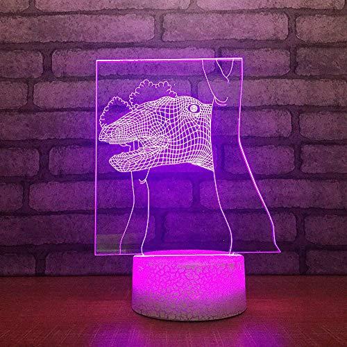 YDBDB Nachtlicht Kreative 3D Usb Led Visuelle Hauptbeleuchtung Dinosaurier Baum Modellierung Tischlampe Kinder Dekoration Schlafzimmer Leuchte (Modellierung Von Bäumen)