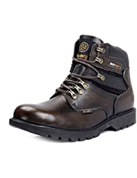 4cd68f63bee Bacca Bucci Mens 6 inches Steel Toe Cap Real Grain Leather Outdoor Laceup  Boots Warranted