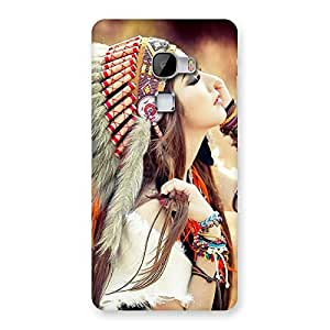 Delighted Native Girl Multicolor Back Case Cover for LeTv Le Max