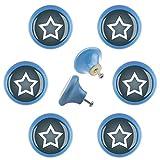 Mobilier Design Bouton Kit d'étoile 6er96502b Star Gris style shabby chic en céramique Boutons Meubles poignées boutons pour armoire tiroir commode chambre d'enfant
