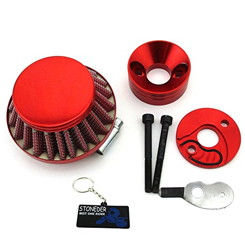 STONEDER Rot Air Filter Adapter vstack für Big Foot Klinge Gas Z Scooter  goped Mini ATV Dirt Bike Pocket Bike