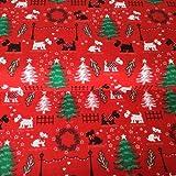 Weihnachten Hund Stoff–0,5Meterware 50cm x